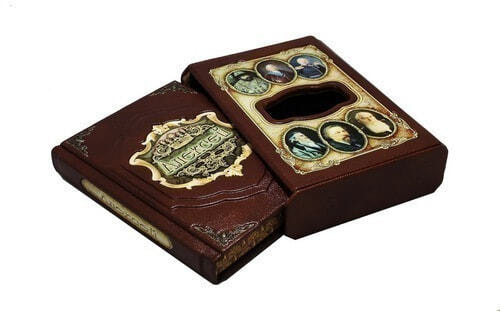 Подарочная книга в кожаном переплете. Великие имена. Алексей (в футляре) (фото, вид 1)