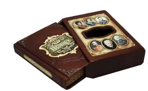 Подарочная книга в кожаном переплете. Великие имена. Петр (в футляре) (фото, вид 1)