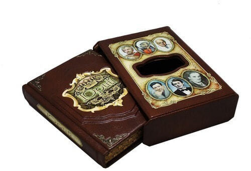 Подарочная книга в кожаном переплете. Великие имена. Юрий (в футляре) (фото, вид 1)