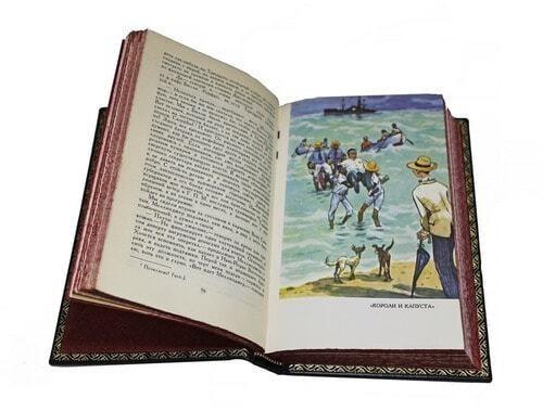 Подарочная книга в кожаном переплете. Генри О. Сочинения в 3-х томах (фото, вид 1)