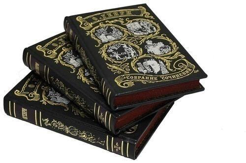 Подарочная книга в кожаном переплете. Генри О. Сочинения в 3-х томах (фото, вид 4)