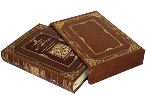 Подарочная книга в кожаном переплете. История Наполеона (в футляре) (фото, вид 1)