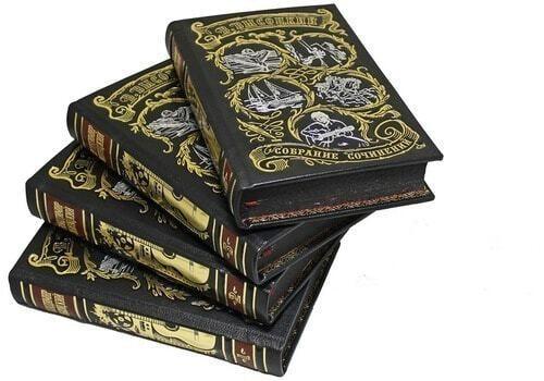 Подарочная книга в кожаном переплете. Высоцкий В. Собрание сочинений в 4-х томах (фото, вид 4)