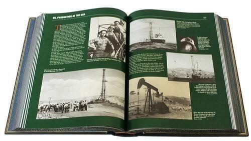 Подарочная книга в кожаном переплете. Нефть и газ. (на англ. языке) (фото, вид 1)