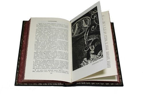 Подарочная книга в кожаном переплете. Ги Де Мопассан. Собрание сочинений в 7-ми томах (фото, вид 1)