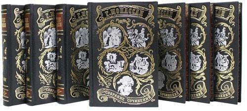 Подарочная книга в кожаном переплете. Ги Де Мопассан. Собрание сочинений в 7-ми томах (фото, вид 4)