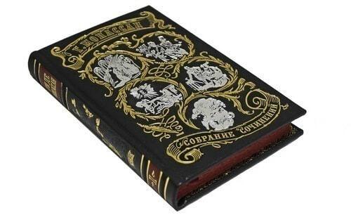 Подарочная книга в кожаном переплете. Ги Де Мопассан. Собрание сочинений в 7-ми томах (фото, вид 6)