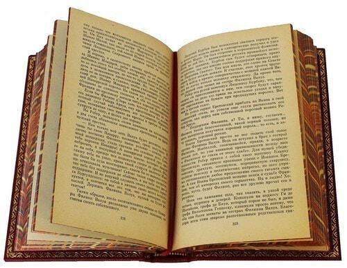 Подарочная книга в кожаном переплете. Дрюон Морис. Собрание сочинений в 7-ми томах (фото, вид 1)