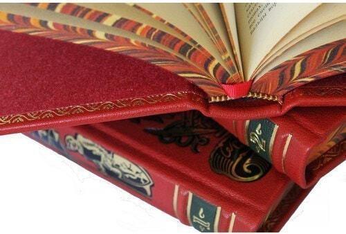 Подарочная книга в кожаном переплете. Дрюон Морис. Собрание сочинений в 7-ми томах (фото, вид 3)
