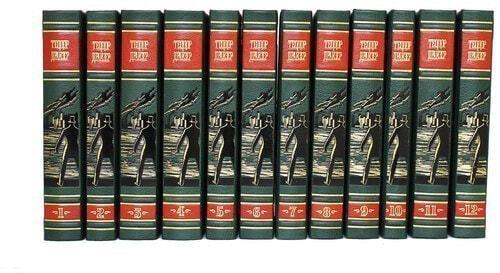 Подарочная книга в кожаном переплете. Теодор Драйзер. Собрание сочинений в 12-ти томах (фото, вид 4)