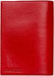 Кожаная обложка для автодокументов. Геометрия | Красный. Вид 2