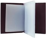 Кожаная обложка для автодокументов. Bubblies | Баклажан. Вид 2