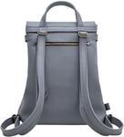 Рюкзак из натуральной кожи (цвет серый). Вид 2