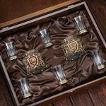 Подарочный набор с 2-мя бокалами для виски в деревянной шкатулке (8 предметов). Юбилейный 50 лет. Вид 2