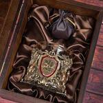 Подарочный набор с бокалом и камнями для виски в деревянной шкатулке. Юбилей80лет. Вид 2