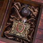 Подарочный набор с бокалом и камнями для виски в деревянной шкатулке. Юбилей60лет. Вид 2