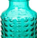 Подарочная стелянная ваза. Голубая (20*15*15 см). Вид 2