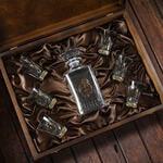 Подарочный набор для водки в деревянной шкатулке (7 предметов). Любимому Мужу. Вид 2