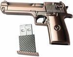 Подарочная металлическая флешка. Пистолет (цвет медь). Вид 2