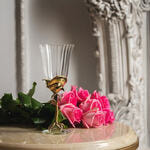 Бокал для вина (латунь/стекло) в подарочной коробке. Роза. Вид 2