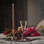 Бокал для вина (латунь/стекло) в подарочной коробке. Романтик. Вид 2
