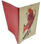 Кожаная обложка на паспорт. Лиса. Вид 2