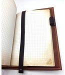 Подарочный ежедневник в кожаной обложке. С праздником, 23 февраля! (цвет коричневый). Вид 2