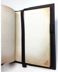 Подарочный ежедневник в кожаной обложке. С праздником, 23 февраля! (цвет черный). Вид 2