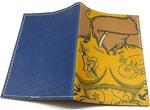 Кожаная обложка на паспорт. Гомер Симпсон в тату. Вид 2