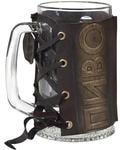 Подарочный бокал в кожаном футляре. «Два пива». Вид 2