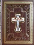 Подарочная книга в кожаном переплете. Святое Евангелие (текст церковнославянский). Вид 2