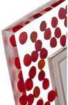Подарочная фоторамка. Красные капли (под фото 10х15 см). Вид 2