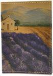 Кожаная обложка на паспорт. Пейзаж. Вид 2