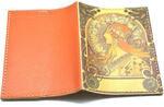 Кожаная обложка на паспорт. Альфонс Муха. Вид 2