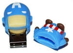 Подарочная флешка. Супергерои. Капитан Америка. Вид 2