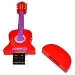 Подарочная флешка. Гитара (цвет красный). Вид 2