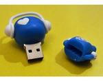Подарочная флешка. Музыкальный человек (синий). Вид 2