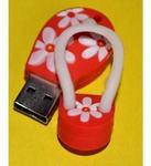 Подарочная флешка. Шлепанец красный. Вид 2