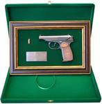 """Панно с пистолетом """"Макаров"""" в подарочной коробке (25 х 37 см). Вид 2"""