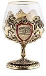Подарочный набор c 2-мя бокалами для коньяка в деревянной шкатулке. Юбилей 70 лет и Настоящий мужчина. Вид 2