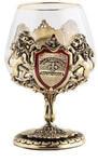 Подарочный набор c 2-мя бокалами для коньяка в деревянной шкатулке. Юбилей 65 лет и Настоящий мужчина. Вид 2