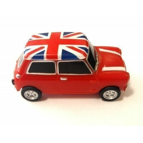 Подарочная флешка. Автомобиль Мини Купер (цвет красный) (фото)