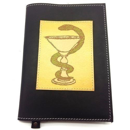 Подарочный ежедневник в кожаной обложке. Медицина - 1 (цвет черный) (фото)