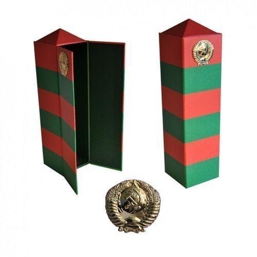 Подарочный футляр под спиртное. Пограничный столб СССР