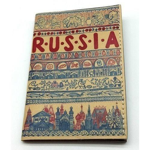 Кожаная обложка на паспорт. Russia (фото)
