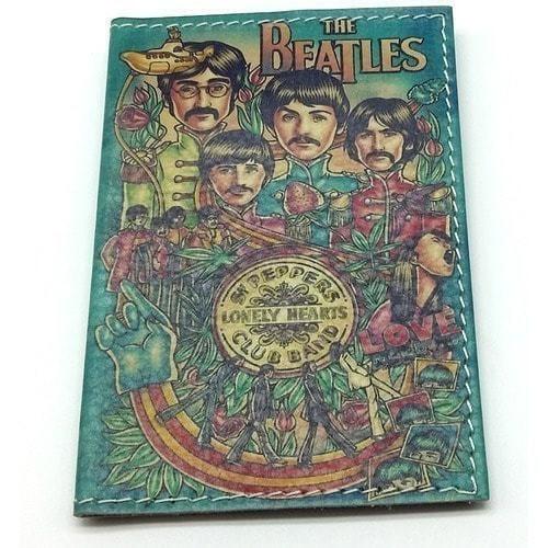 Кожаная обложка на паспорт. The Beatles (фото)