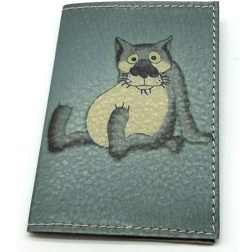 Кожаная обложка на паспорт. Жил-был пес. Волк (фото)