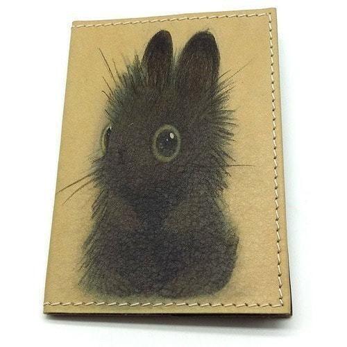 Кожаная обложка на паспорт. Зайчик (фото)