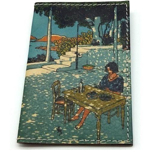 Кожаная обложка на паспорт. Девушка на юге (фото)