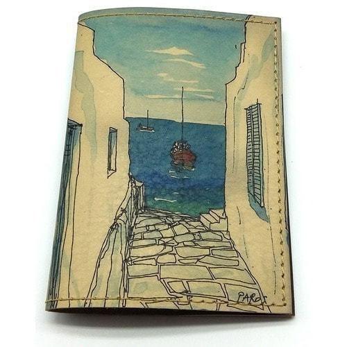 Кожаная обложка на паспорт. У моря (фото)